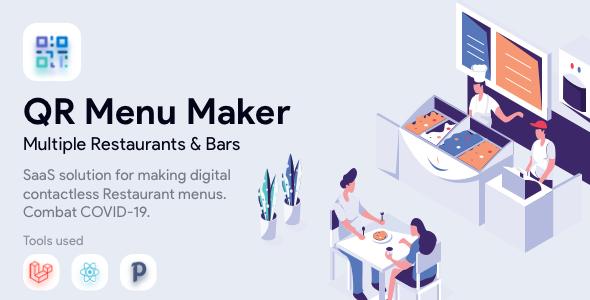 QR Menu Maker - SaaS - Contactless restaurant menus Nulled