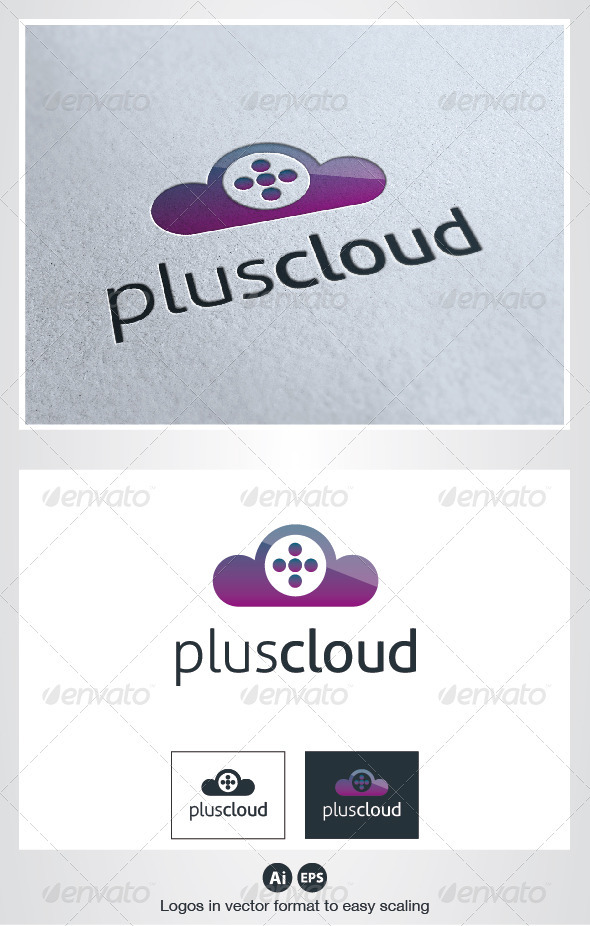 Plus Cloud Logo - Symbols Logo Templates