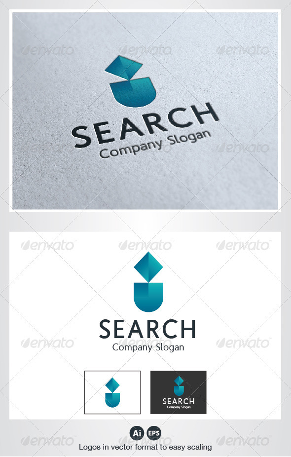 Search I Letter Logo - Letters Logo Templates