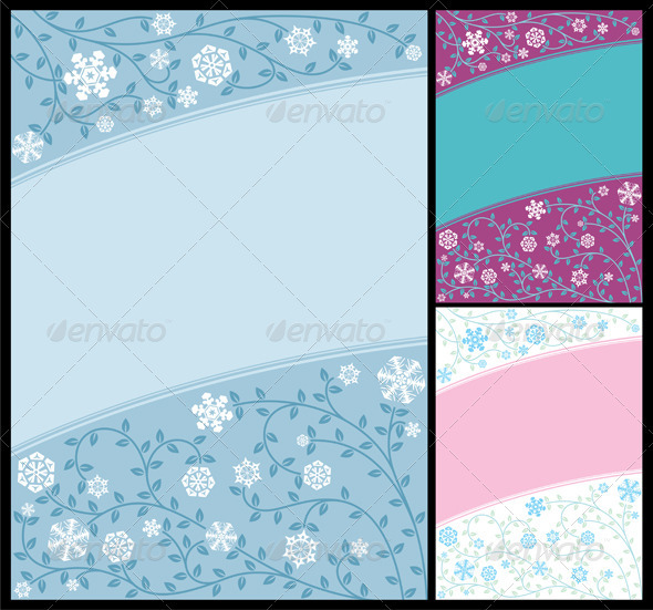 Abstract Winter Background - Flourishes / Swirls Decorative