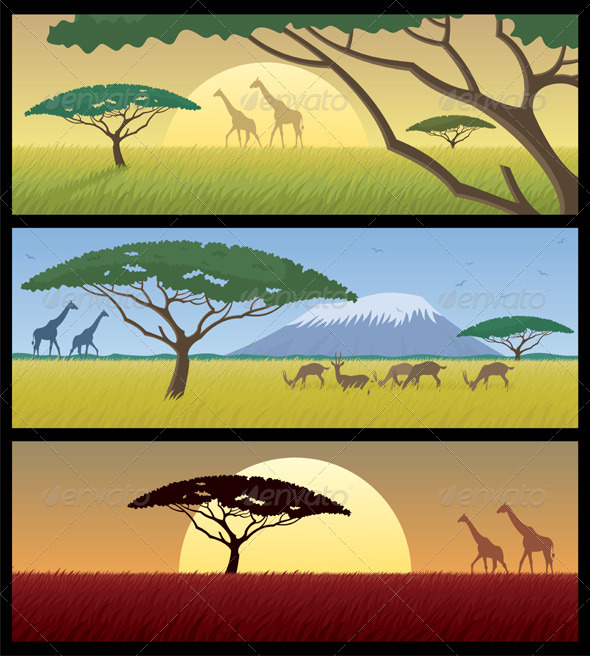 Africa Landscapes - Travel Conceptual