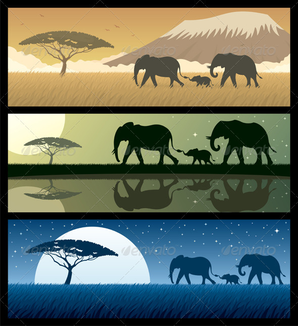 Africa Landscapes 2 - Backgrounds Decorative