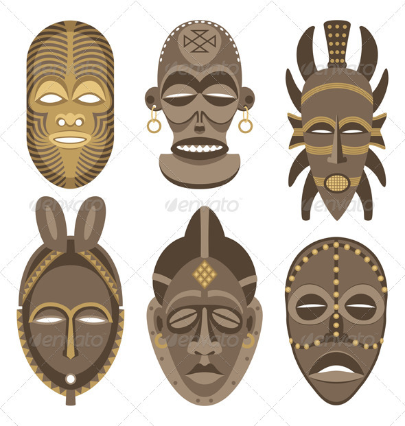 African Masks - Decorative Symbols Decorative