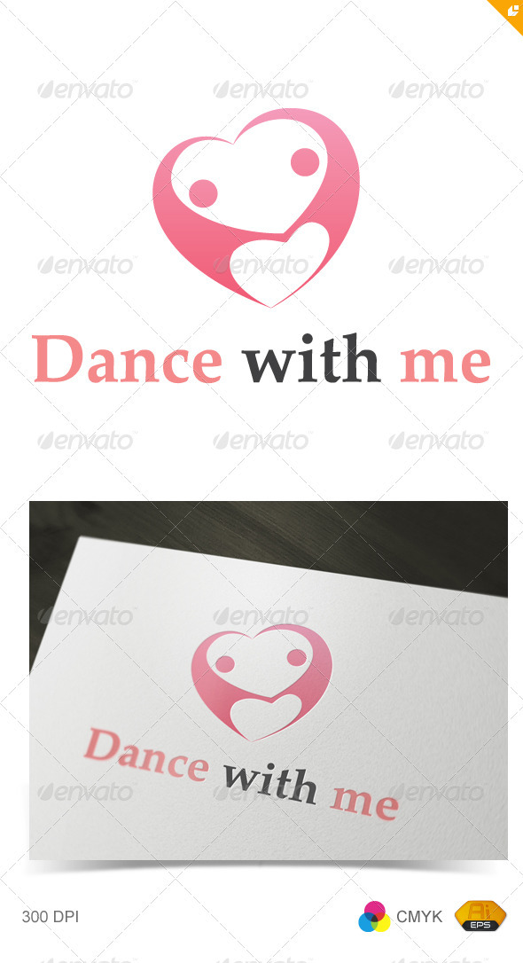 Dance with Me Logo - Vector Abstract