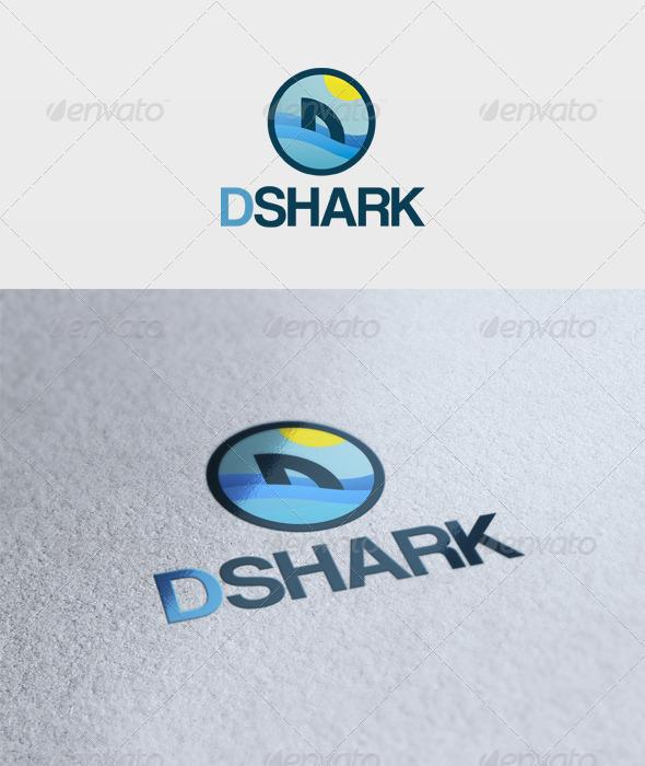 D Shark Logo - Letters Logo Templates