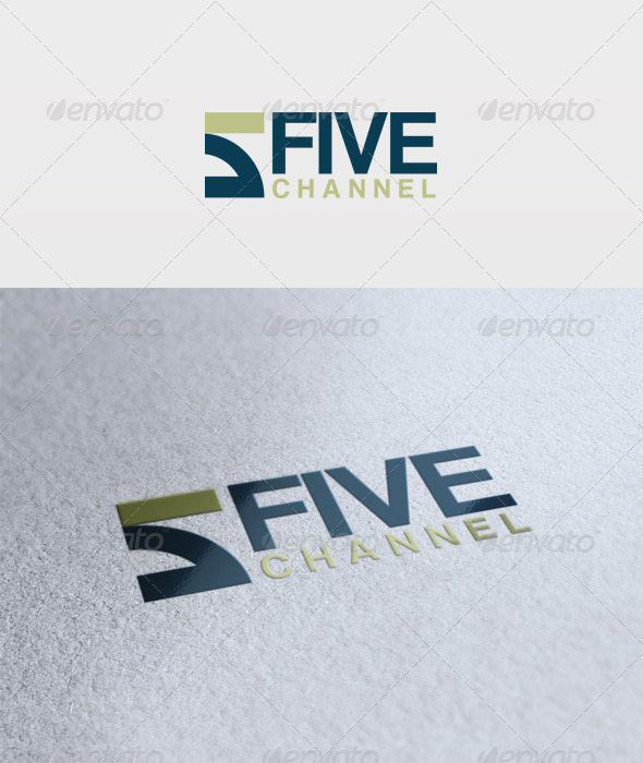 Five Channel Logo - Numbers Logo Templates