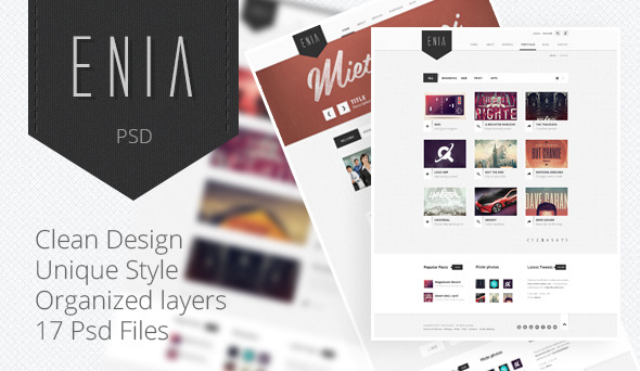 Enia - Professional PSD template