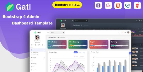 Gati - Bootstrap 4 Admin Dashboard Template & UI Kit