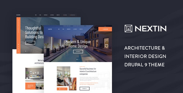 Nextin – Architecture & Interior Design Drupal 9 Theme