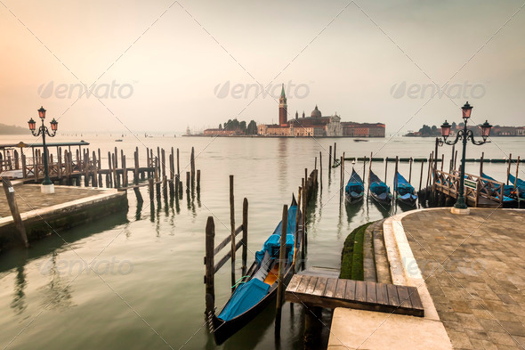 early morning Venice Italy - Stock Photo - Images
