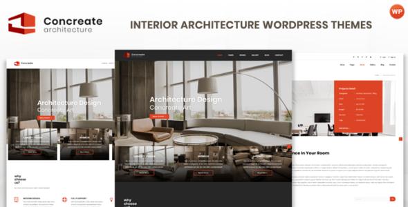 Concreate - Interior Architecture Interactive WordPress Theme