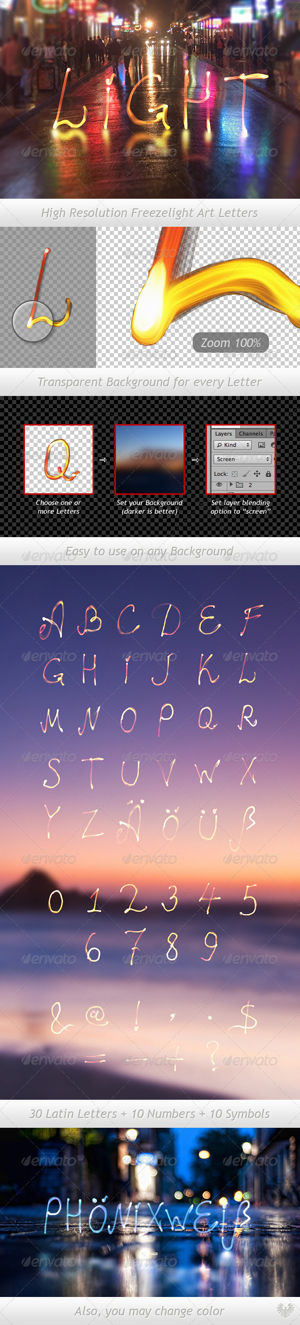 Freezelight Typeface - Miscellaneous Graphics