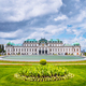 Belvedere palace Vienna Austria with spring flowers and cloudscape - PhotoDune Item for Sale