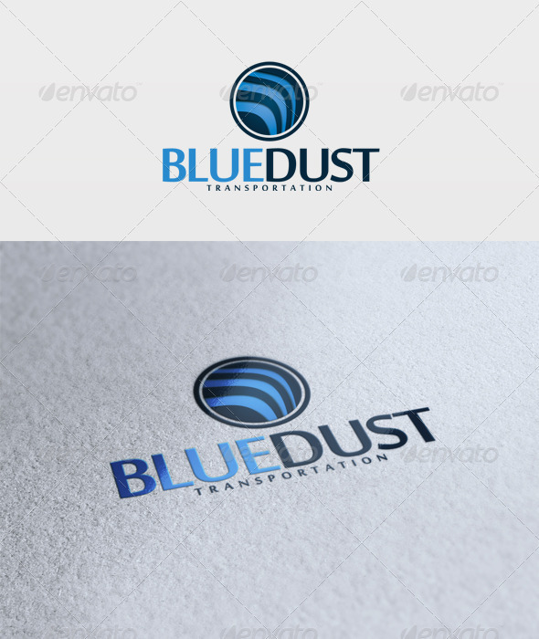 Blue Dust Logo - Vector Abstract