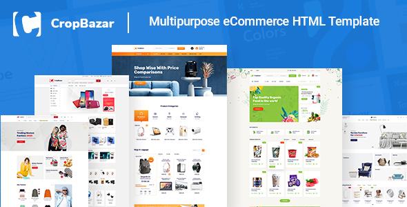 Excellent Cropbazar – Multipurpose eCommerce HTML Template