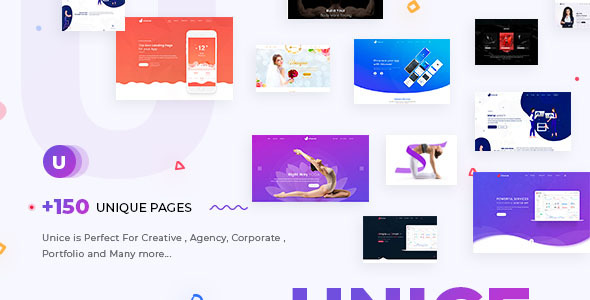 Unice - Creative Agency & Business Multipurpose HTML Template