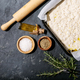 Raw focaccia dough in a baking dish - PhotoDune Item for Sale