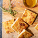 Baked focaccia bread served with olives - PhotoDune Item for Sale