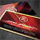 Futuristic Colorful Business Card - GraphicRiver Item for Sale