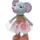 Knitted toy gray mouse in a dress on a white background - PhotoDune Item for Sale