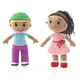 Knitted toys boy and girl on a white background - PhotoDune Item for Sale