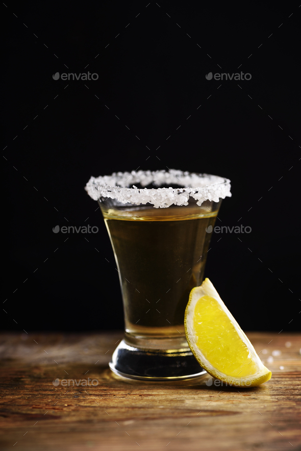 Tequila shot - Stock Photo - Images