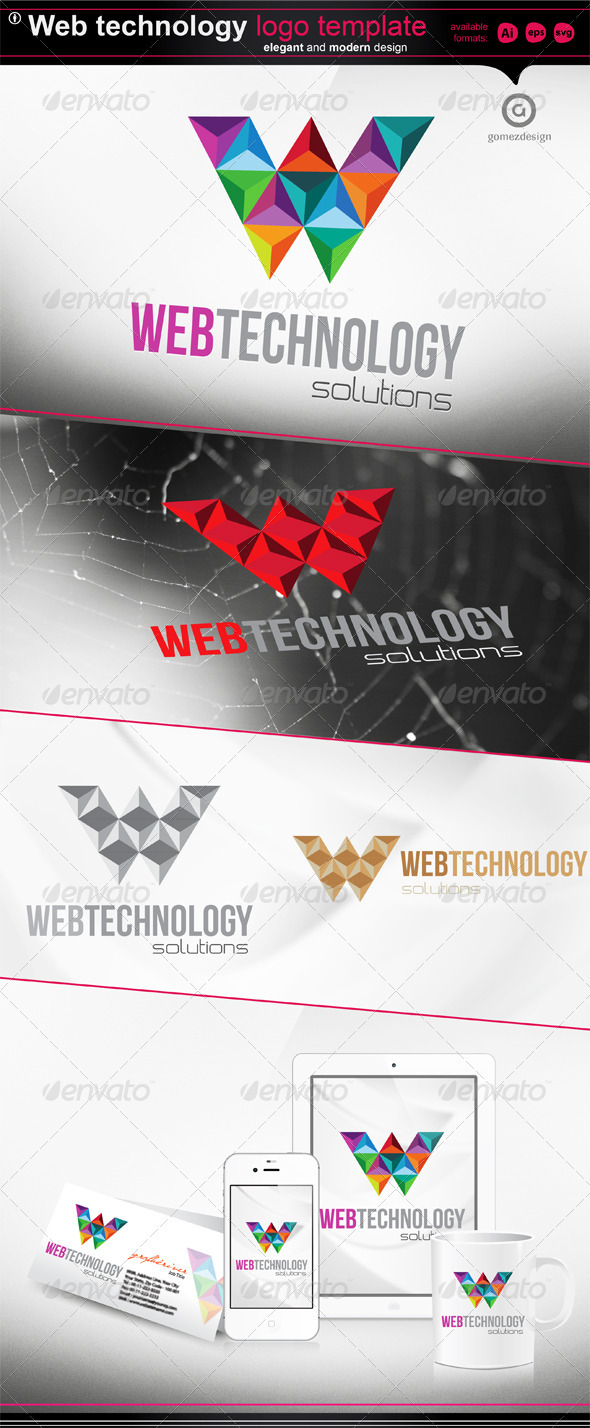 Web Technology - Logo Template - Letters Logo Templates