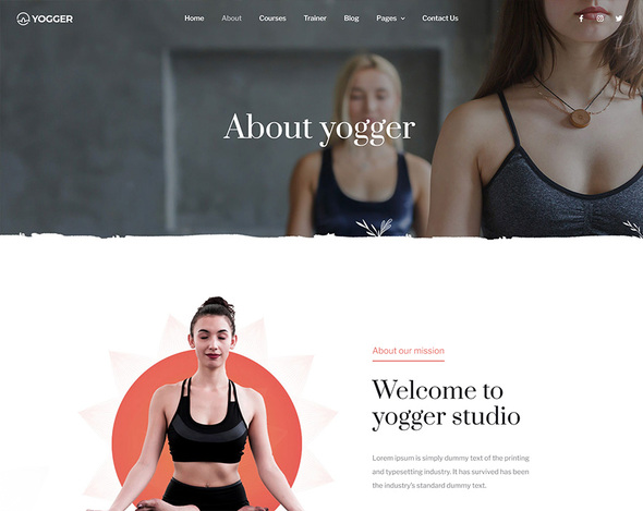 Yogger - Meditation and Yoga Elementor Template Kit by themezaa   ThemeForest