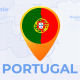 Portugal Map - Portuguese Republic Travel Map - VideoHive Item for Sale