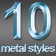 10 Different Metal Text Styles - GraphicRiver Item for Sale