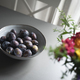 fresh plum fruits in grey bowl on table - PhotoDune Item for Sale