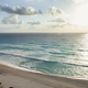 High angle view of sunrise over the ocean and beach in Cancun - PhotoDune Item for Sale