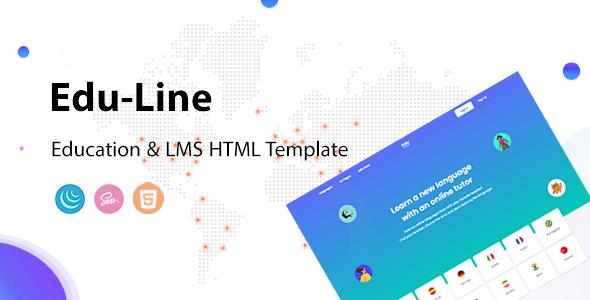 Eduline – Language School & Education HTML Template