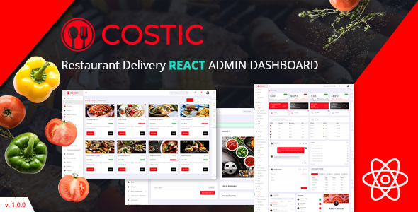 Costic   Restaurant Dashboard React Template