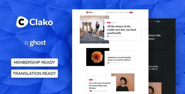 Clako - Ghost Blog And Magazine Theme