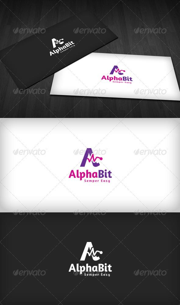 Alpha Bit Logo - Letters Logo Templates