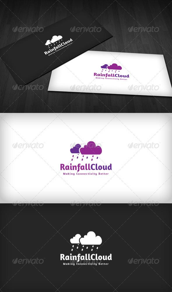 Rainfall Cloud Logo - Nature Logo Templates