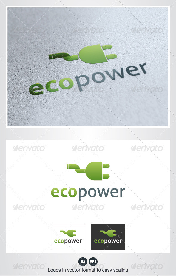 Eco Power Logo - Objects Logo Templates