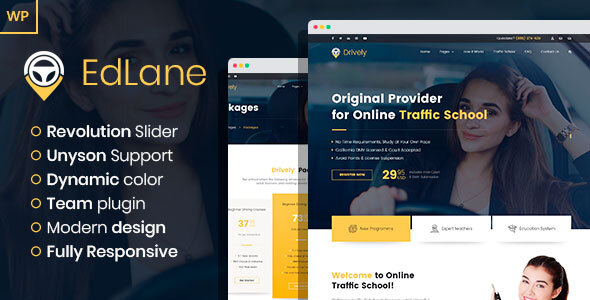 EdLane - Driving School WordPress theme