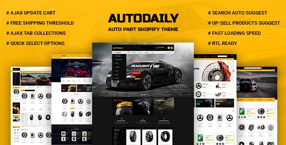 Autodaily – Auto Parts & Car Accessories Store Shopify Theme