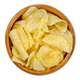 Salted potato chips with peel, also crisps, in wooden bowl - PhotoDune Item for Sale