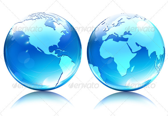Earth Map Globes - Nature Conceptual