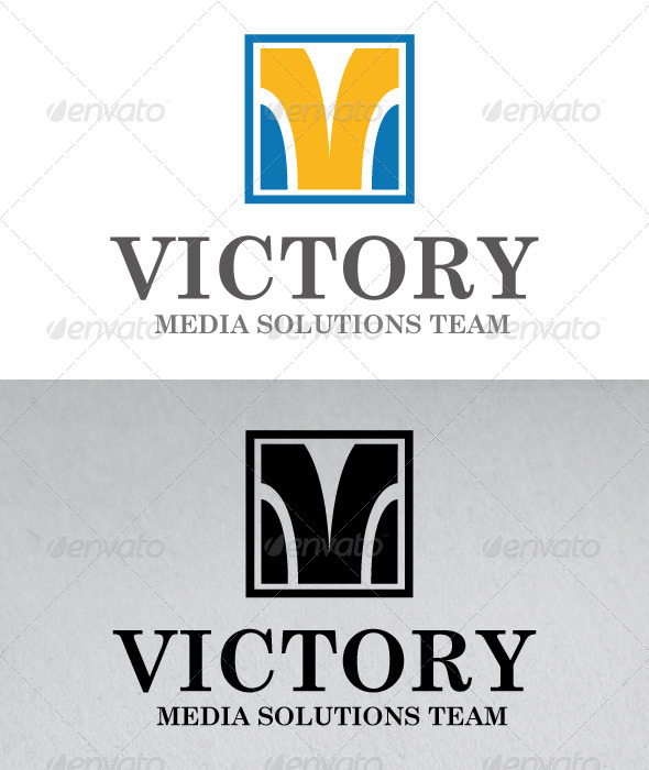 Victory Media Logo - Letters Logo Templates