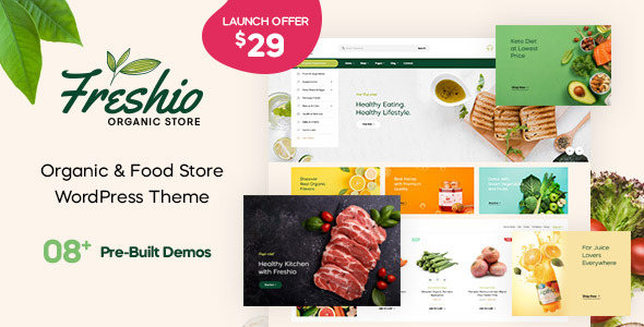 Freshio – Organic & Food Store WordPress Theme