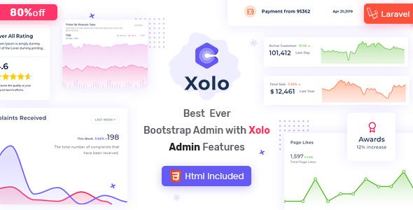 Xolo - Html & Laravel Admin Template