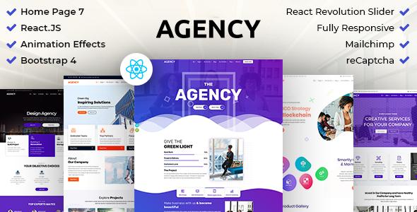 Top Agency : Creative Business Multipurpose ReactJS Template