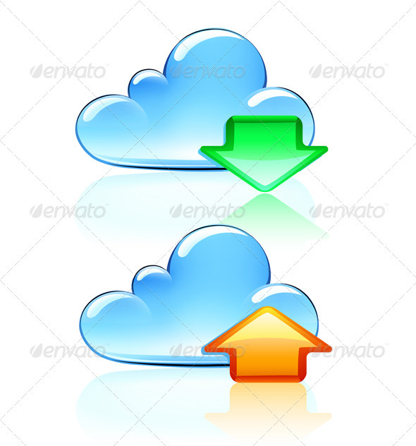 Cloud Hosting Icons  - Communications Technology