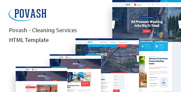 Povash | Power Wash Cleaning Services HTML Template