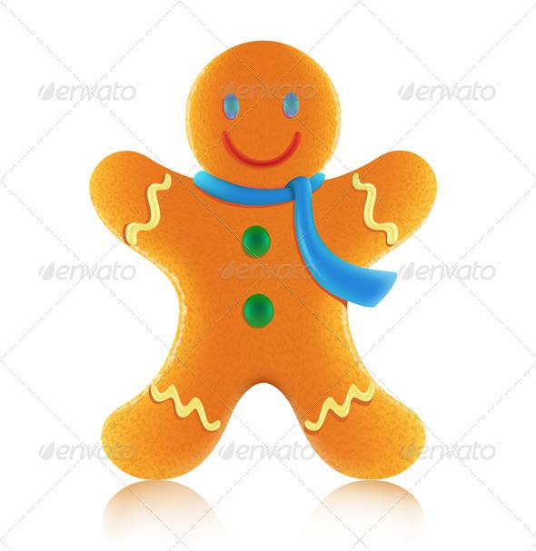 Gingerbread man cookie - Christmas Seasons/Holidays