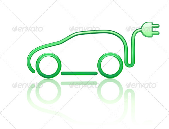 Electric powered car  - Technology Conceptual